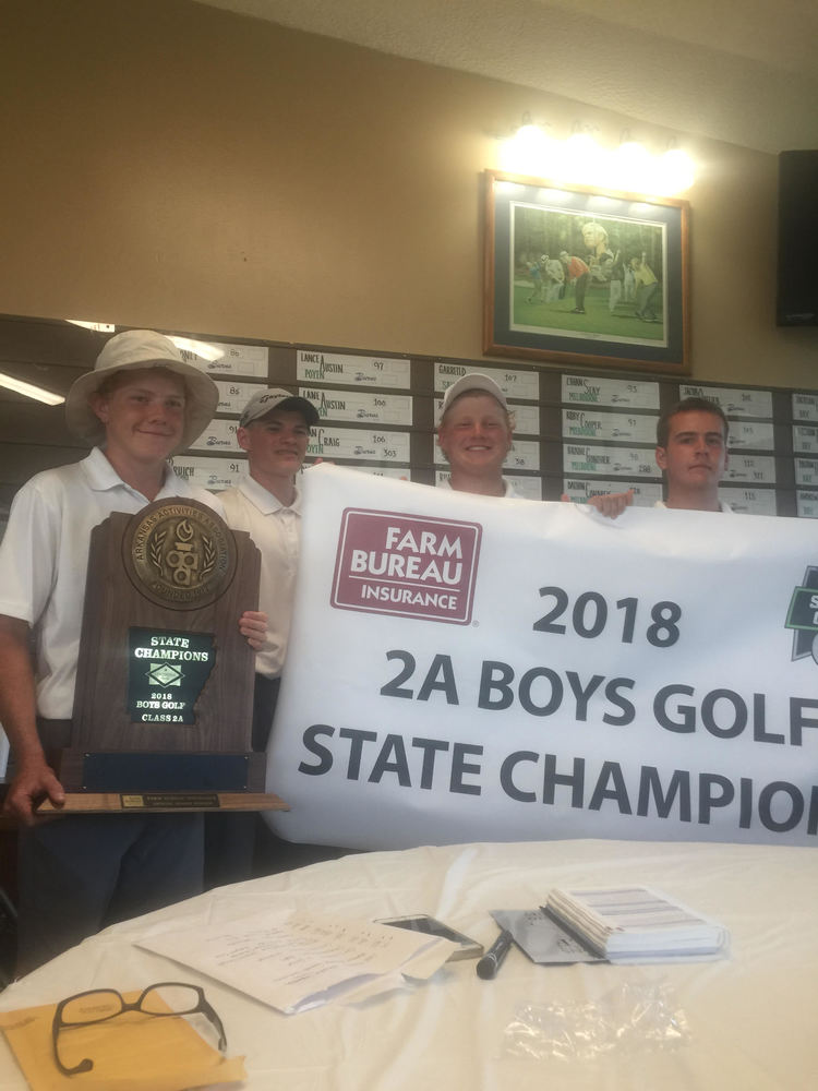 Boys Win State Golf Tournament!