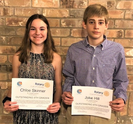 Outstanding Eighth Graders Named