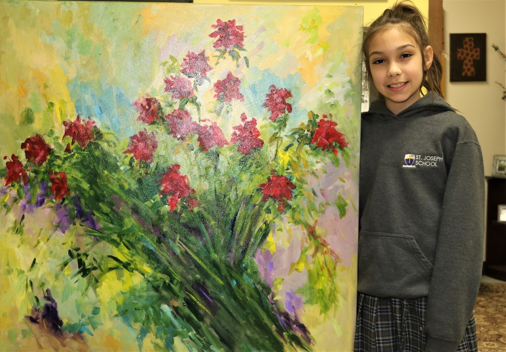 Middle School Student Wins Painting