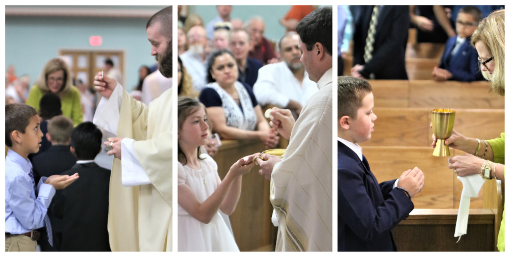 First Communion Celebrated