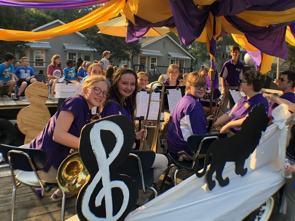 Bulldog Band Lifts School Spirit