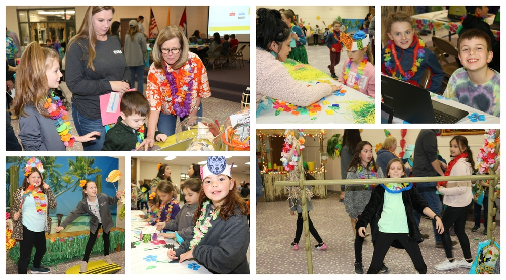 Literacy Night Goes Hawaiian