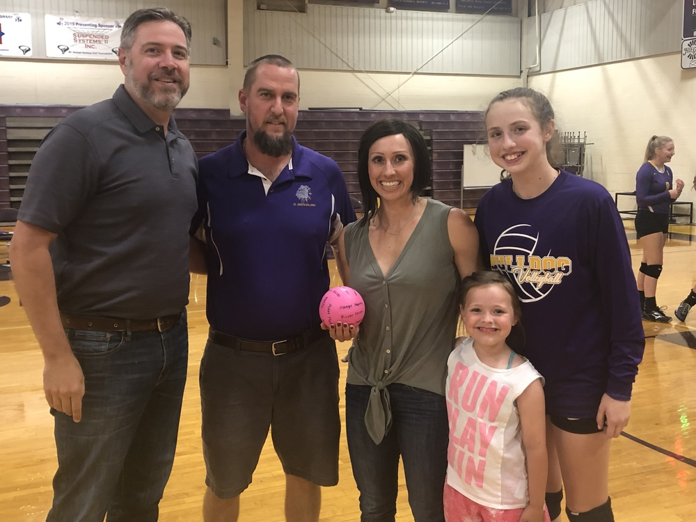 Family Sponsors Volleyball Game