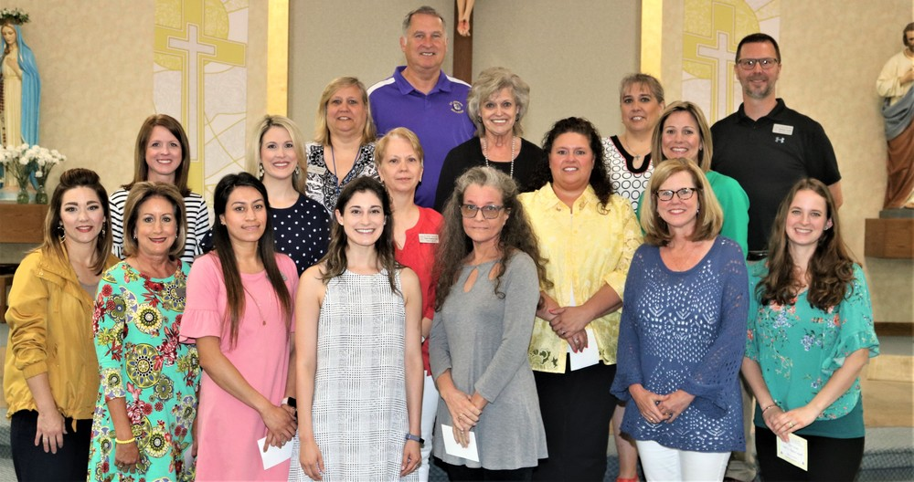 Teachers & Staff Receive Service Awards