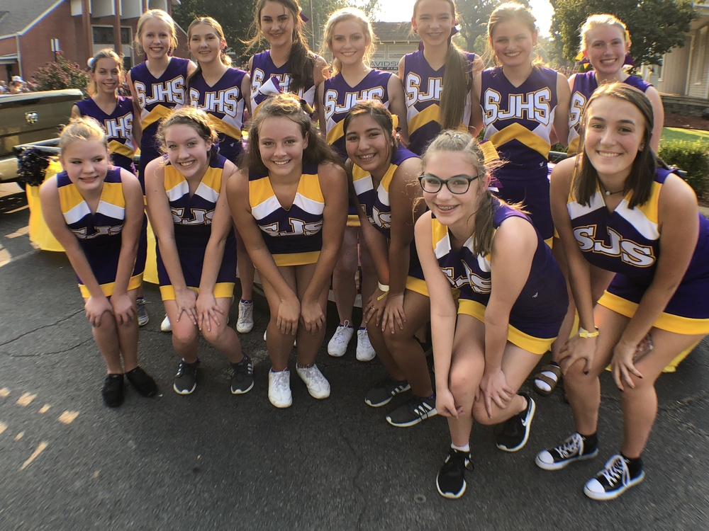 Cheerleaders Lead the Way at Fair Parade