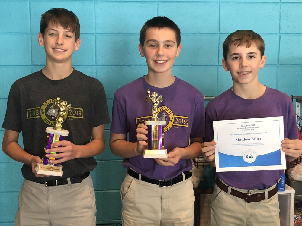 Junior High Bee Winners