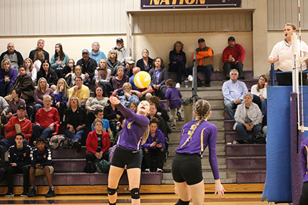 Volleyball Team Wins First District Match